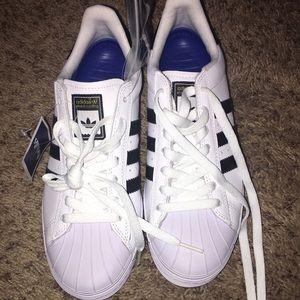 Adidas superstar skateboarding leather shoe